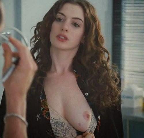 Ann hathaway boob